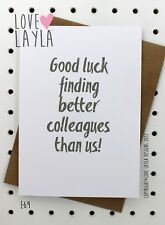 Greeting Card/Leaving Card/Comedy/Novelty/Funny/Humour/Love Layla Australia/E69