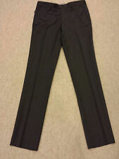ZARA MAN BASIC BLACK PIQUE DRESS PANTS FLAT FRONT SIZE EUR