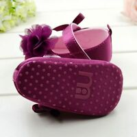 3-12M Baby Girls Kids Flower Shoes Soft Sole Newborn Cotton Anti Slip Crib Shoes