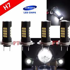 Combo 2 Pair H7 Samsung LED Chip 42 SMD White Xenon 6000K Light Bulb Motorcycle