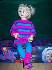 """1987 Playmates INERACTIVE JILL 33"""" DOLL  Vintage TALKING MIB"""