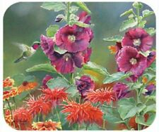 MOUSE PAD-Hummingbirds-Printed in U.S.A.--Polyester/Neoprene  **Beautiful**