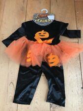 Terciopelo Calabaza de Halloween Traje de bebé 9 12 meses Nuevo Sin Uso Tutu
