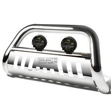 FOR 02-09 DODGE RAM 1500/2500/3500 CHROME BULL BAR GRILLE GUARD+TINTED FOG LIGHT