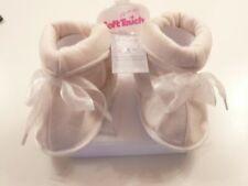 Soft Touch chaussures bébé montante style chausson fille rose ou écru 0/12 mois