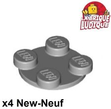 Lego 4x turntable plaque tournante rond top 2x2 gris/light b gray 3680 3679 NEUF