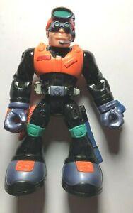 2002 Mattel Rescue Heroes Rock Miner Figure 16cm