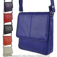 NEW Ladies Compact LEATHER Shoulder Cross Body BAG By PrimeHide Handy Colourful