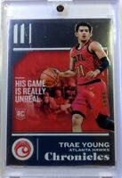 2018 18-19 Panini Chronicles Chrome Foil Trae Young Rookie RC #532, Hawks