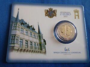 2017 coincard Luxembourg 200e Anniversaire naissance du Grand Duc Guillaume III