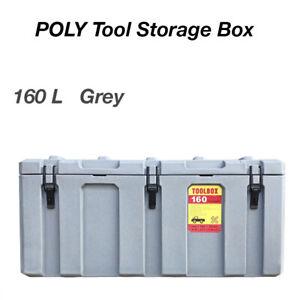 160L Poly Tool Box Storage Grey Case Heavy Duty Waterproof Cargo Box