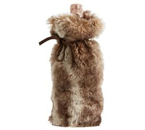 Pottery Barn Caramel Ombre Brown Faux Fur Wine Bag