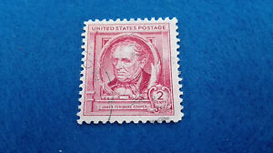Stamp United States 2 Cents James Fenimore Cooper 1939, Scott 860. Stamp U.S