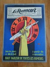 Affiche originale - La rumeur - 1927 - SEPO - Anquetil - Pamphlets