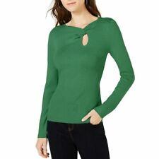 INC NEW Women's Twist-front Long Sleeve Key Hole Sweater Top TEDO