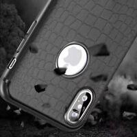 For iPhone X 6 7 8 crocodile leather Cover Anti-drop TPU Phone Protective caseAA