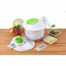SALAD MAKER Set 8pz-Deluxe INSALATA SPINNER & Mandolino