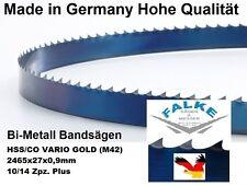 Bandsägeblatt Bimetall Gold M42 2465 mm x 27  x 0,9 mm  10/14 Bandsägeblätter
