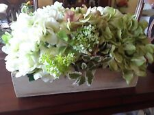 "**JUST REDUCED**16"" sq. faux hydrangea & viburnum arrangement."