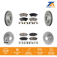 Front Rear Coated Disc Rotors & Ceramic Brake Pads Fits Chevrolet Cruze Buick