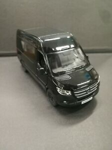 Mercedes-benz Sprinter black kinsmart toy car model 1/48 scale diecast metal new
