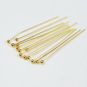 200pcs Gold Silver Plated Copper Ball Head Pins for Diy Jewelry Making Findings