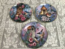 Set of 3 - Franklin Mint - Royal Doulton - Carolyn Shores Wright - Bird Plates