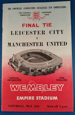 FA Cup Leicester City Teams L-N Final Football Programmes
