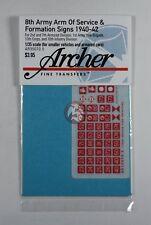 Archer 1/35 British 8th Army AOS & Formation Signs 1940-1942 #4 (5mm) AR35070.5
