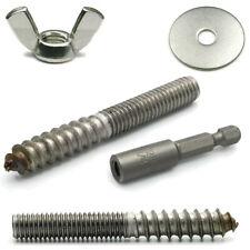 Hurricane Hardware Shutter Kit Stainless Steel Hanger Bolts Nuts & Washers 31pc