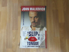 John MALKOVICH  in a Slip of the Tongue  SHAFTESBURY  Theatre Original  Poster