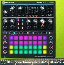 Novation Ultra Super Mini nova Bass Station 2 Circuit SL Summit Fridge Magnet