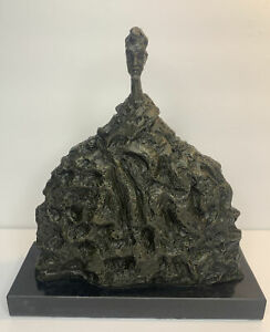 Alberto Giacometti Brutalist Bronze Sculpture Reproduction 'Deigo Au Chandail '