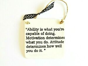 Ability Motivation Life Quote Wall Plaque Home Decor Inspirational Positive Gift