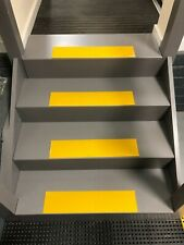 Heavy Duty Stair Tread GRP Strips in yellow for Slippery Steps and Decking