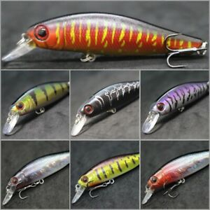 Minnow Jerkbait Fishing Lures wLure 3 1/4 inch Tight Wobble Slow Floating M606