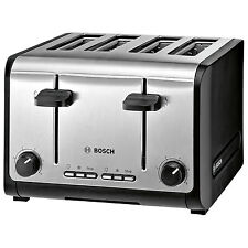 Bosch City TAT6A643GB 1800W 4-Slice Toaster - Stainless Steel