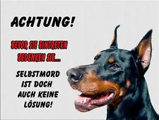 Dobermann -Aluschild-Warnschild-Neu-Funschild