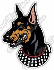"""Doberman Pinscher Head Dog Breed Pet Gift Car Bumper Vinyl Sticker Decal 4""""X5"""""""