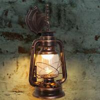 Retro Lantern Antique Vintage Rustic Lamp Wall Sconce Light Fixture Outdoor