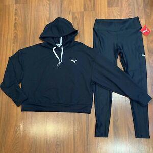 Puma Women's Hoodie Sweater Pants 2pc Set Size L Tracksuit New