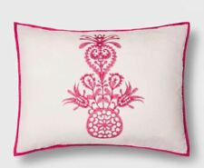 OpalHouse Mallorca Embroidered Ornament Sham Opal House Collection, King , PINK