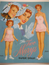 The Two Marys Paper Doll Book - Two Sets of Sisters & Matching Clothes