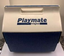 Igloo Playmate Large Can Ice Cooler Chest Push Button Blue White USA Made