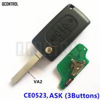 Remote Flip Key for PEUGEOT 807 407 308 307 207 CC SW Expert Partner CE0523 ASK