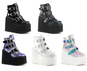 Demonia SWING-105 Women's Wedge Platform Ankle Boot
