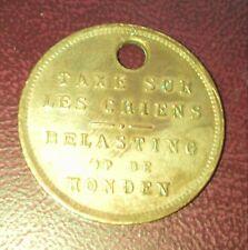 penning médaille taxe sur les chiens belasting op de honden belgique 1926