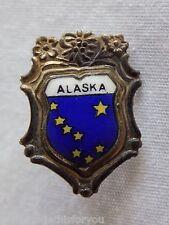 """Vintage Alaska Lapel Hat Pin Brooch 5/8"""" x 7/8"""" Wappenre Heuba Metall"""
