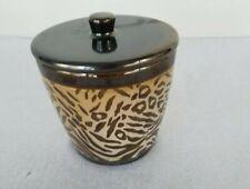 Better Homes And Gardens Cotton Ball Jar Animal Print Trinket Holder Ceramic