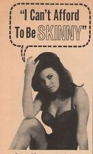 1965 Raquel Welch Wate-On Don't Be Skinny Weight Gain 60s Print Ad Advertisement